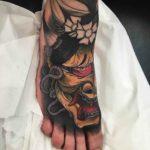 Hannya Foot Tattoo