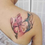 Hummingbird Flower Tattoo