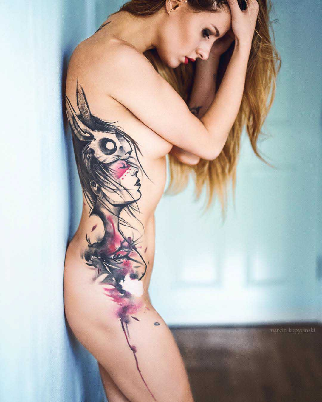 girl side tattoo