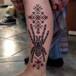Tarantula Tattoo on Leg Side