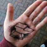 Anvil Tattoo on Palm
