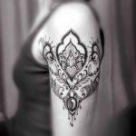 Dotwork Ornament Tattoo on Shoulder