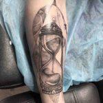 Sand Hourglass Tattoo