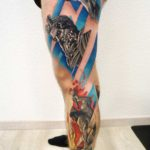 Side Leg Tattoo Designs