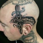 Black Snake Head Tattoo