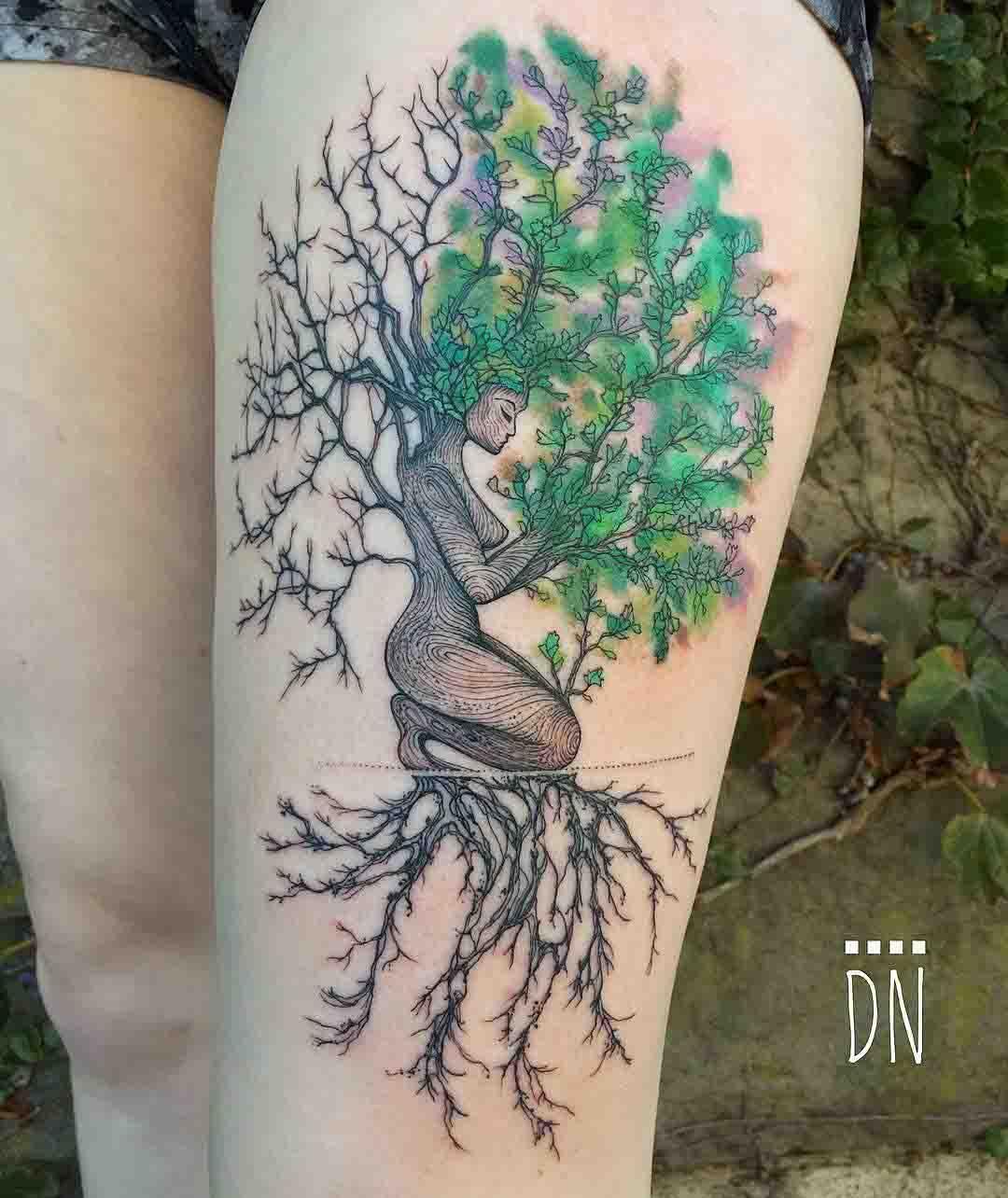 Mokosh tattoo tree