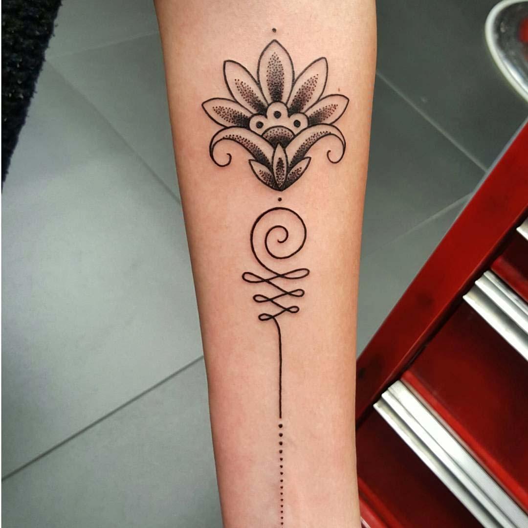 arm lotus tattoo