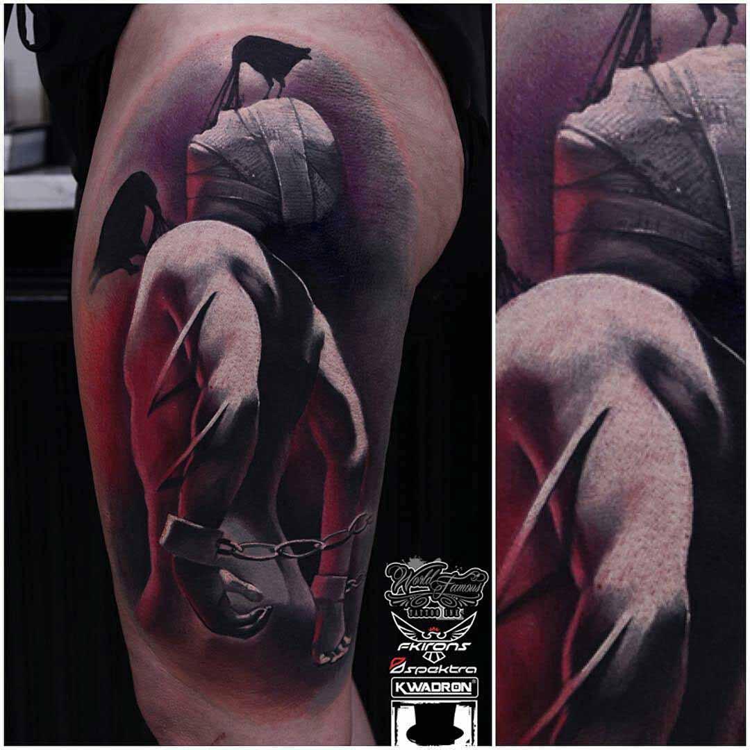 artistic prisoner tattoo 3D