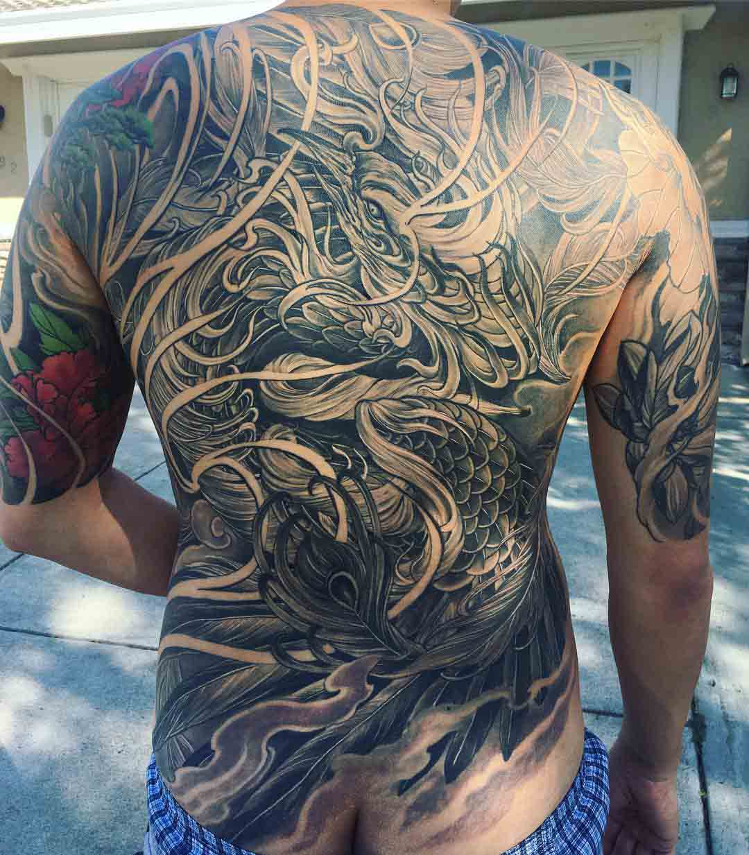 full back tattoo amazing artwork