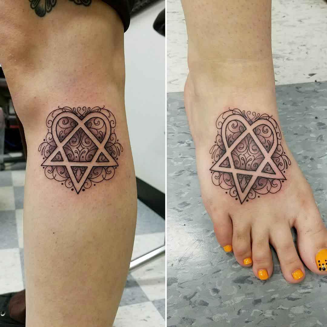 sisters tattoos hertogram HIM fans