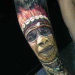 Hyperrealistic Tattoo Portrait of Indian