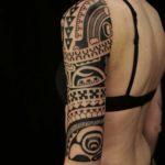 Tribal Half Sleeve Tattoo Girl