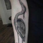Heron Tattoo on Arm