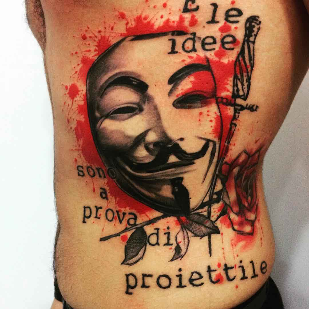 trash polka anonymous tattoo