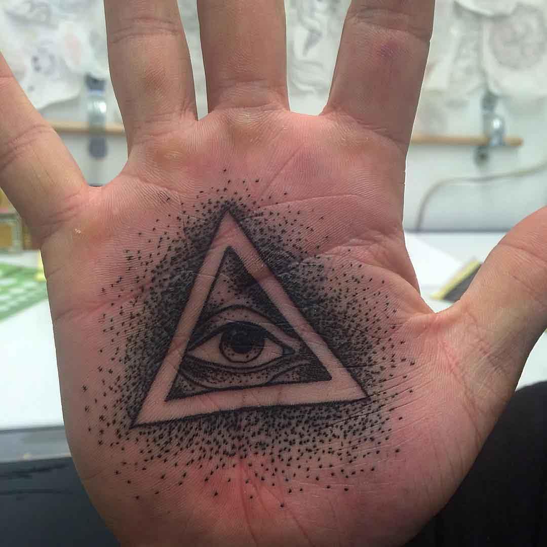 Eye Palm Tattoo by Anthony Wayne