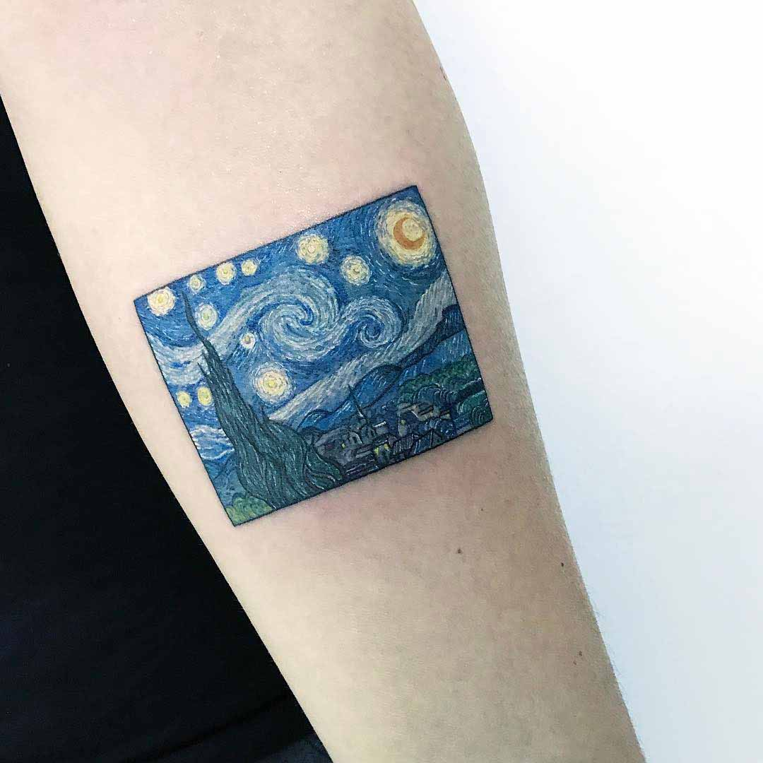 Van Gogh Tattoo Reproduction