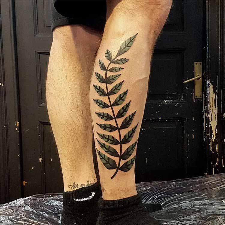 fern tattoo minimalistic