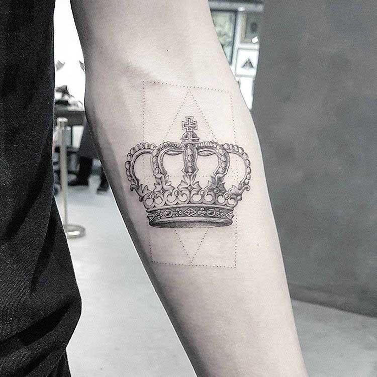 arm tattoo crown