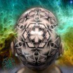 Big Mandala Tattoo on Head