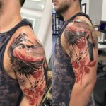 Crow Trash Polka Tattoo on Shoulder