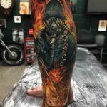 Flaming Man Tattoo Realistic