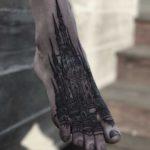 Castle Tattoo on Foot