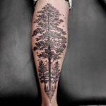 Linework Tattoo Tree