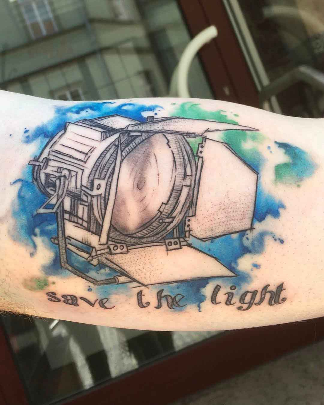 watercolor light tattoo