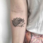Flowery Hedgehog Tattoo