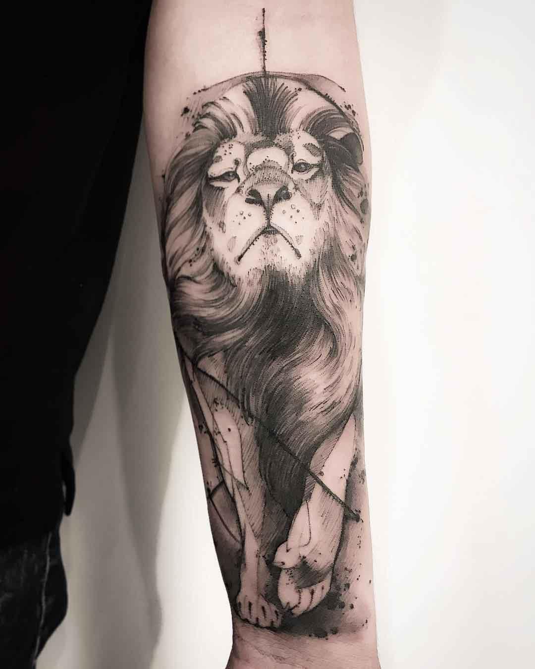 arm tattoo lion king
