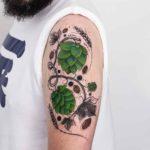 Cool Floral Tattoo on Shoulder