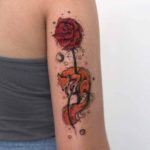 Fox and Rose Tattoo