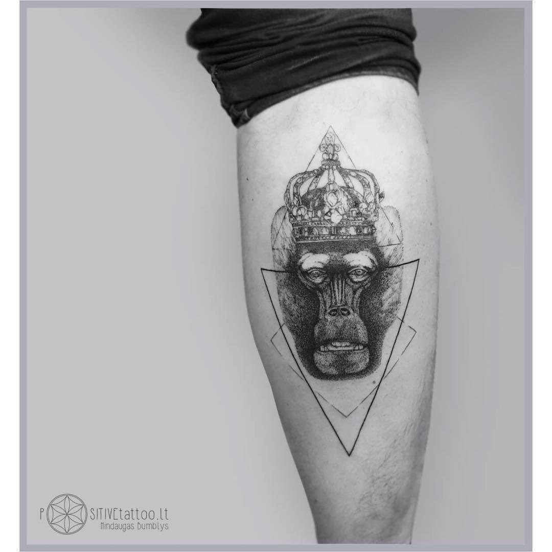 calf tattoo monkey king