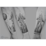 Owl and Wolf Forest Tattoos