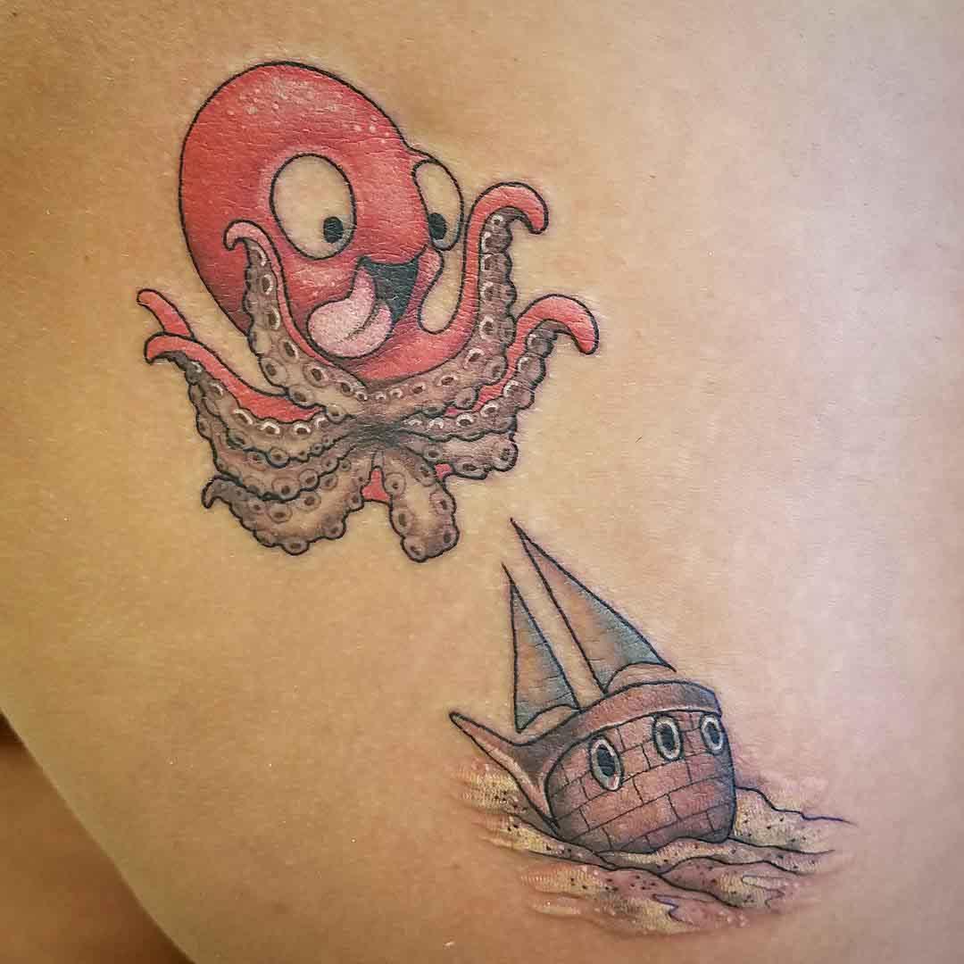 small tattoo kraken