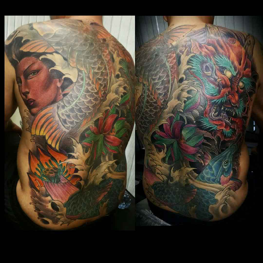 full back japanese tattoo