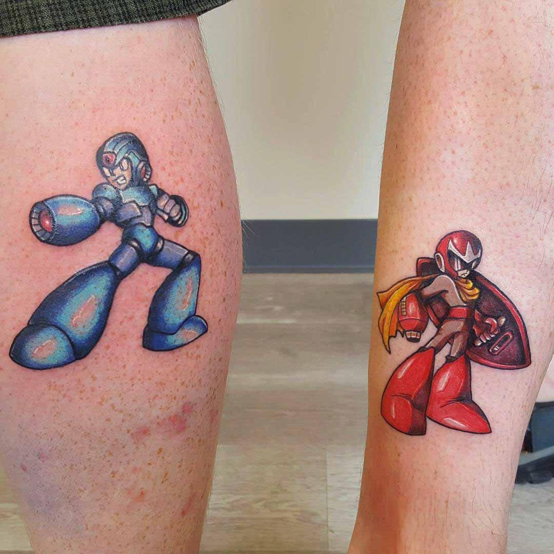 brothers tattoos megaman