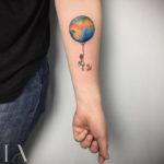 Small Tattoo Earth Balloon