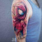 Spiderman Tattoo on Shoulder