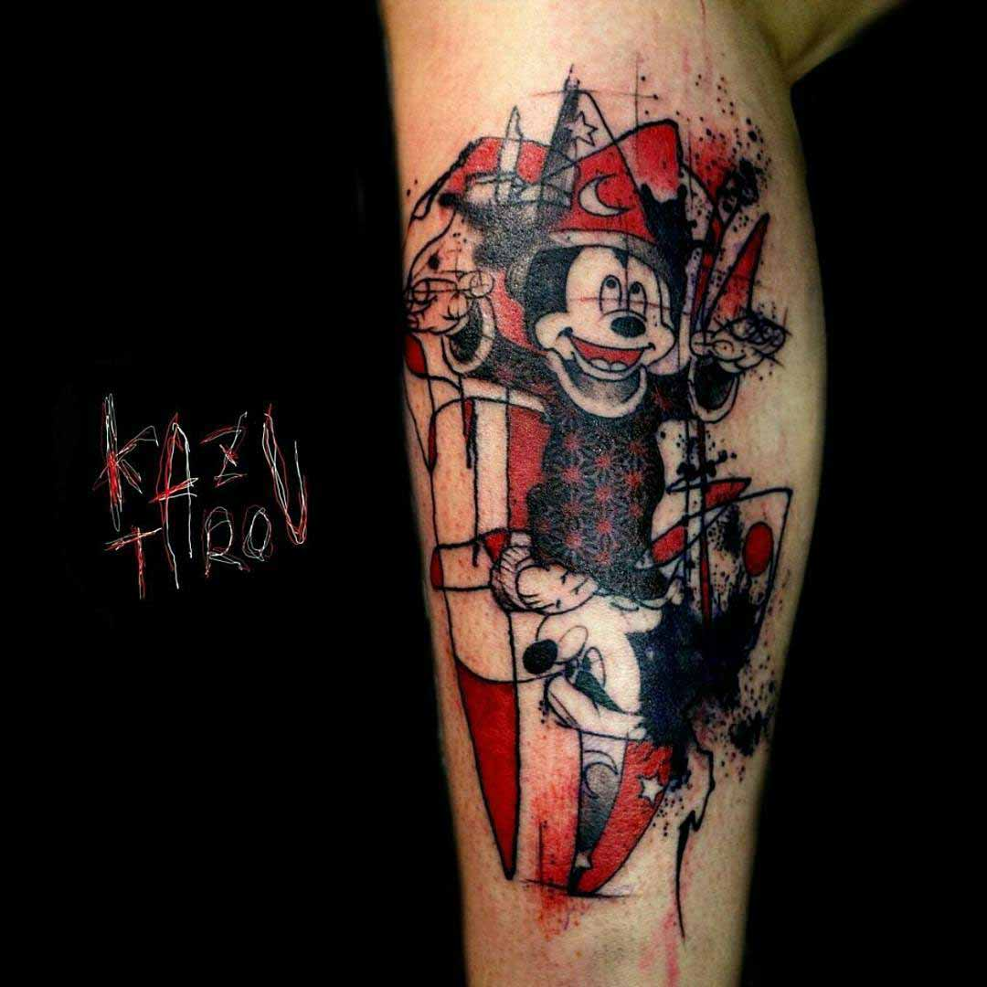 Mickey mouse tattoo wisard