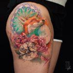 Happy Fox Tattoo