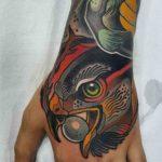 Hawk Tattoo on Hand