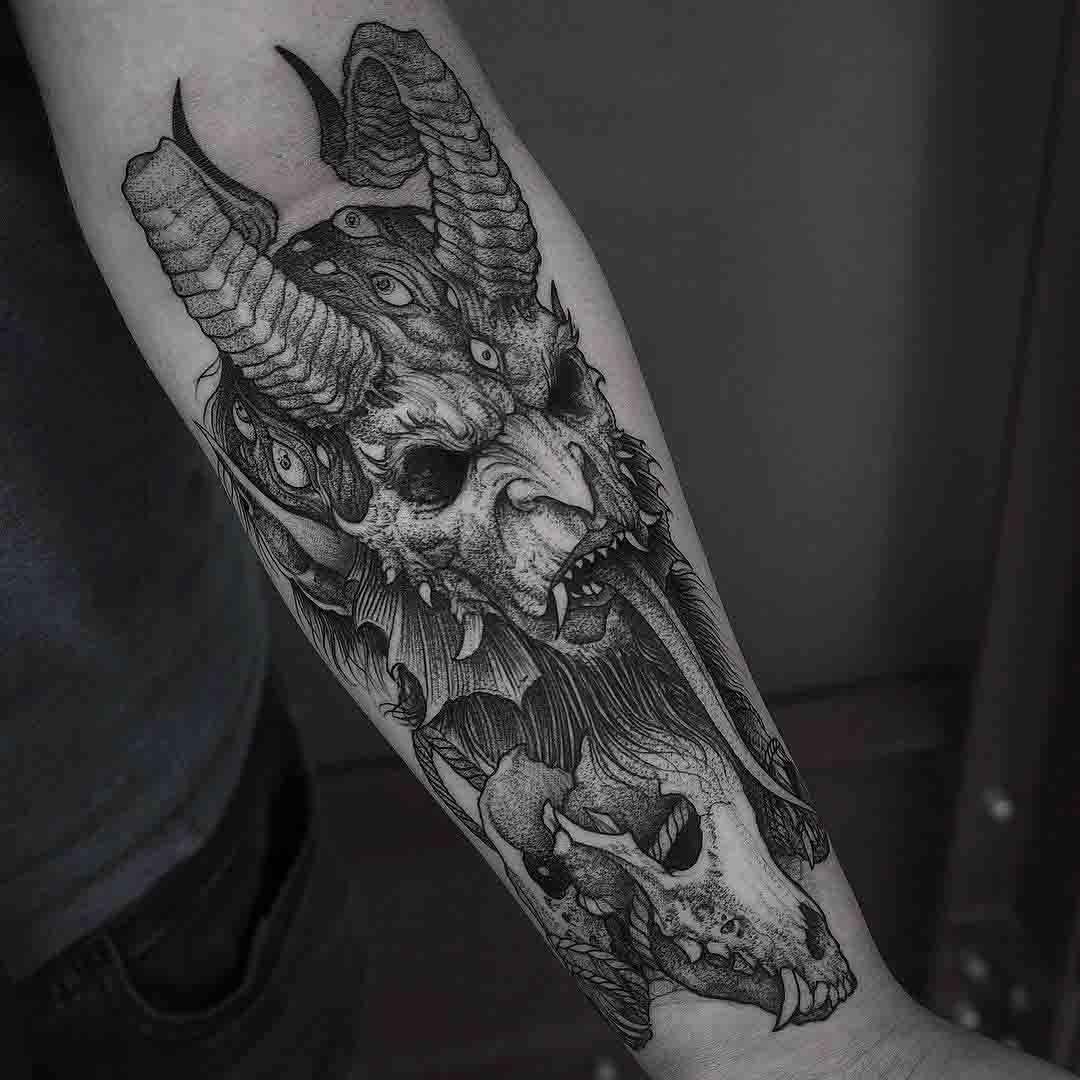 arm tattoo Satan
