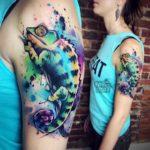 Chameleon Tattoo on Shoulder