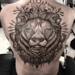 Dotwork Lion Tattoo on Back