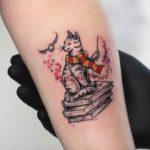 Harry Potter Cat Tattoo