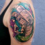 Mermaid and Astrtonaut Tattoo