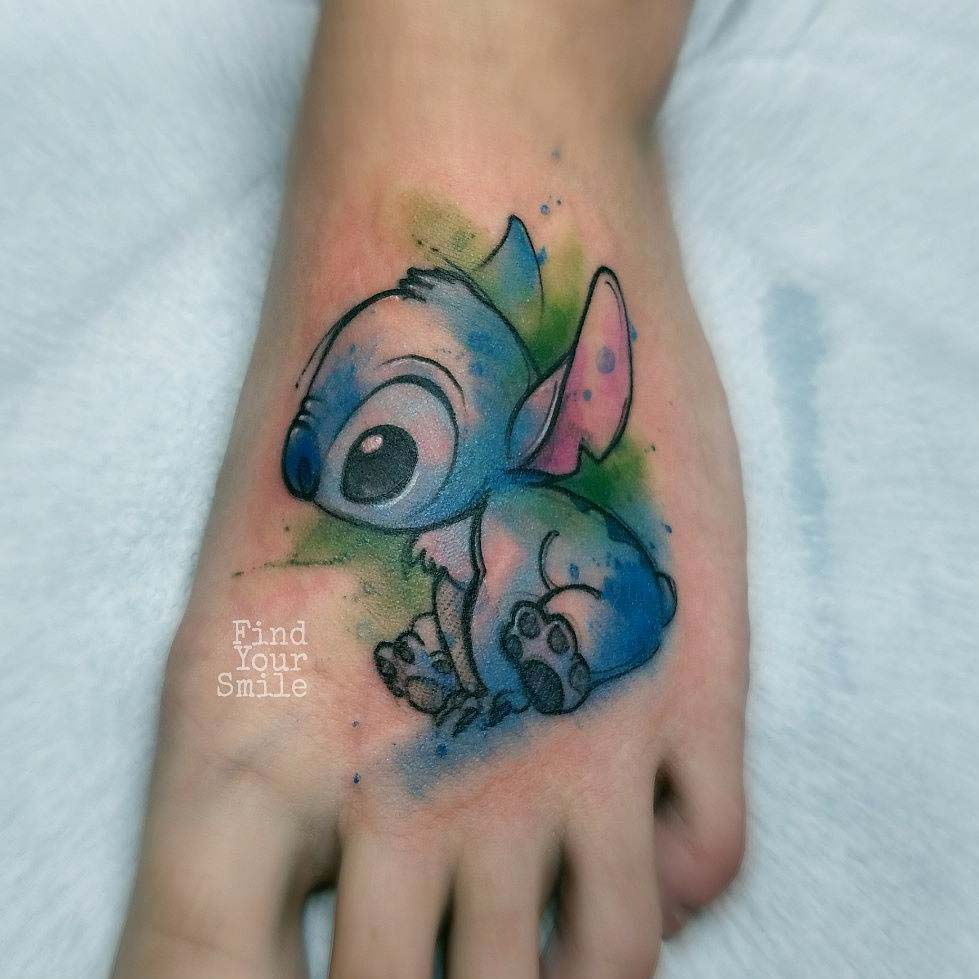 foot tattoo stitch