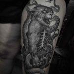 Zombie Cat Tattoo