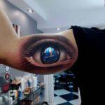 Big Eye Tattoo on Bicep